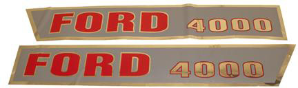 F503HA Ford New Holland Tractor 4000 Hood Decal Set D-F4000A